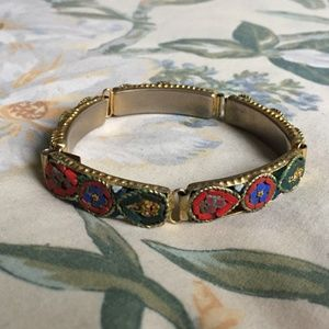 Vintage Handcrafted Floral Bracelet